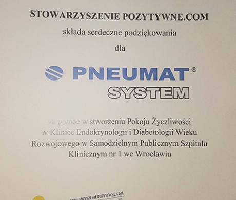 podziękowanie dla Pneumat System