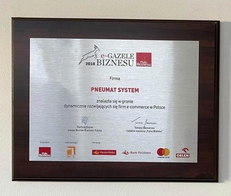 Pneumat. laureatem e-gazeli biznesu w 2018 roku