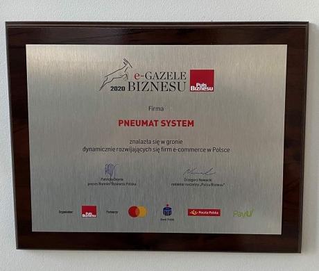 Pneumat. zdobywcą nagrody e-gazele biznesu 2020
