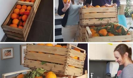 pomarańcze w firmie
